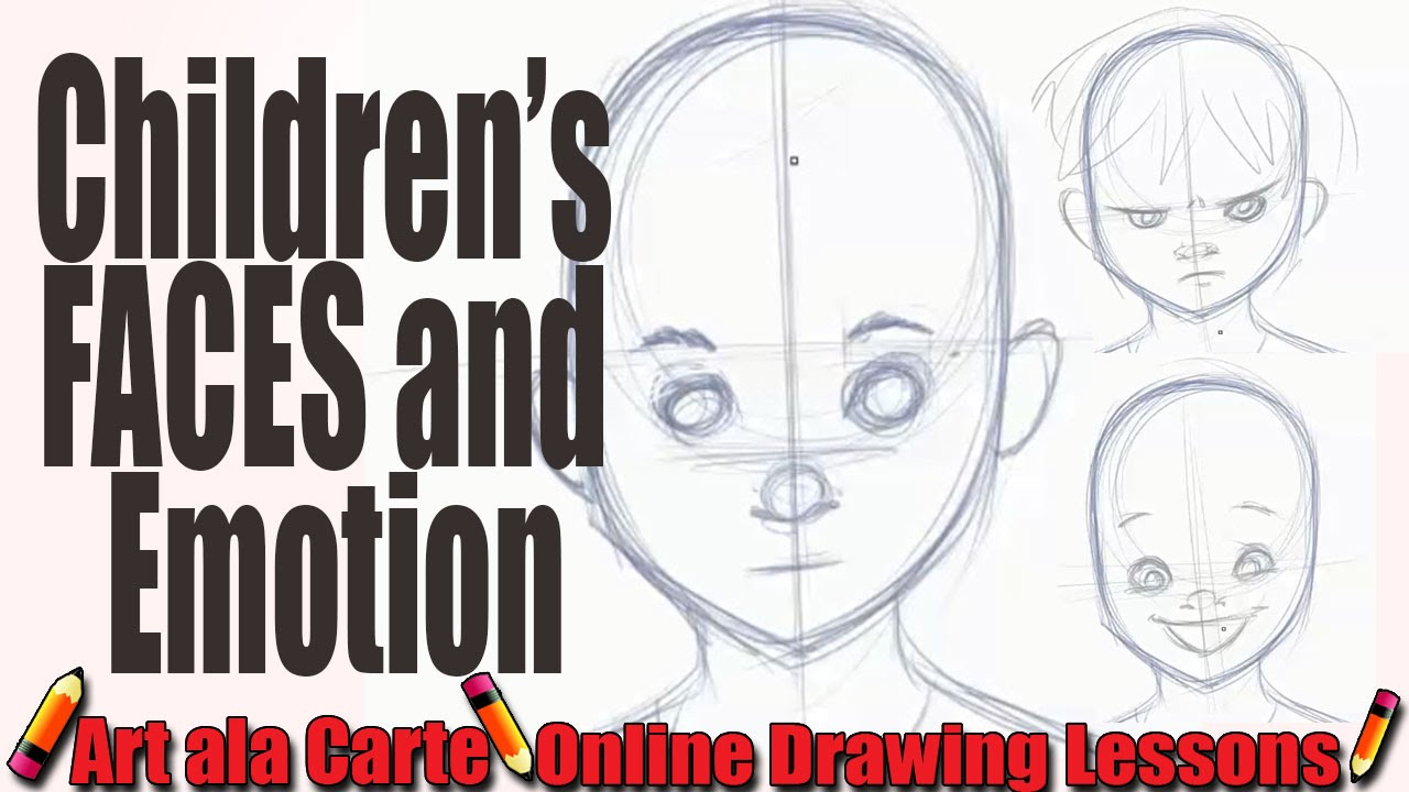 How to draw childrens faces and expressions youtube