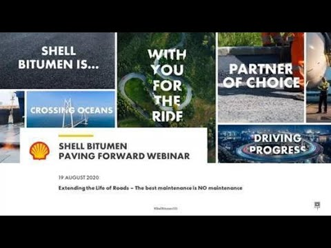 Shell Bitumen Paving Forward Webinar – 22 June 2020