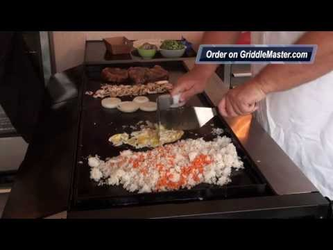 Griddle Master Video #1014-Teppanyaki-Recipe-Habachi-Japanese on Griddle Top