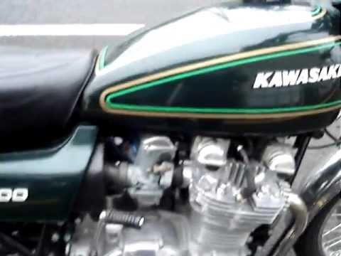 1976 KAWASAKI KZ900 GREEN ENGINE START - YouTube