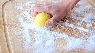 How To Clean Cutting Kitchen Board - آموزش تمیز کردن تخته آشپزخانه به روش غیر شیمیایی