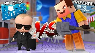 Minecraft BOSS BABY VS HELLO NEIGHBOR - TINY TURTLE & DONUT BECOME THE NEIGHBOUR - Donut the Dog