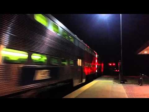 Metra MP36-3S 415 pushes inbound rush hour train number 2106 through Grayslake on 3/22/16