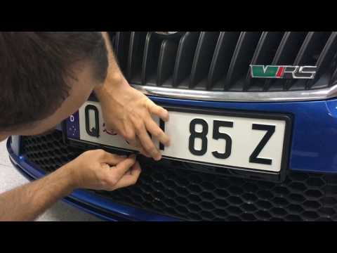 Euro Classic Holder PPQ Personalised Plate Queensland Installation Instructions Euro Car Upgrades