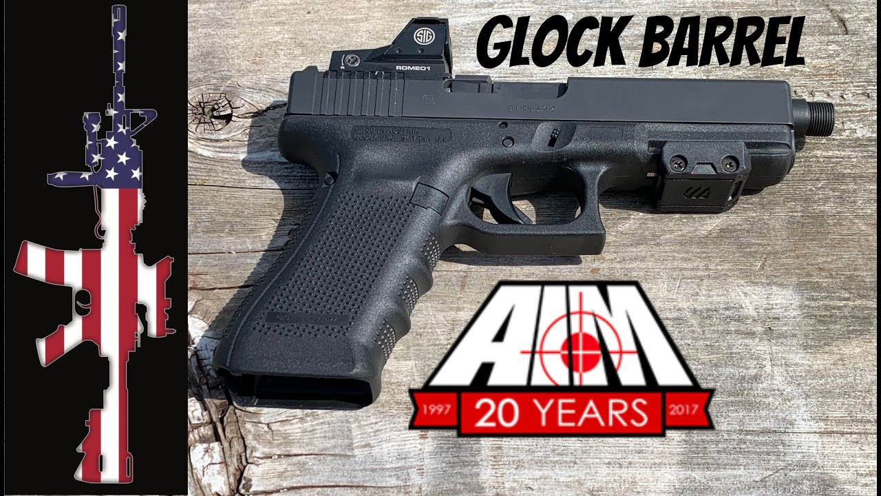 Glock 17 Threaded Replacement Barrel - From AIM Surplus