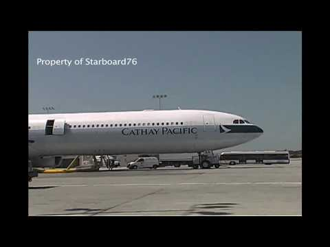 Cathay Pacific Airways 'Exterior & Interior' views aboard CX's Airbus  A340-642  at LAX & Sydney