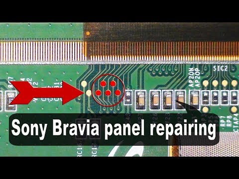 Sony TV Panel, Repairing The Double Image Problem.