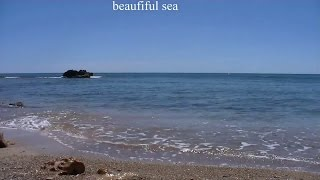 Sound of the sea,  Listen to the soothing sound of the surf