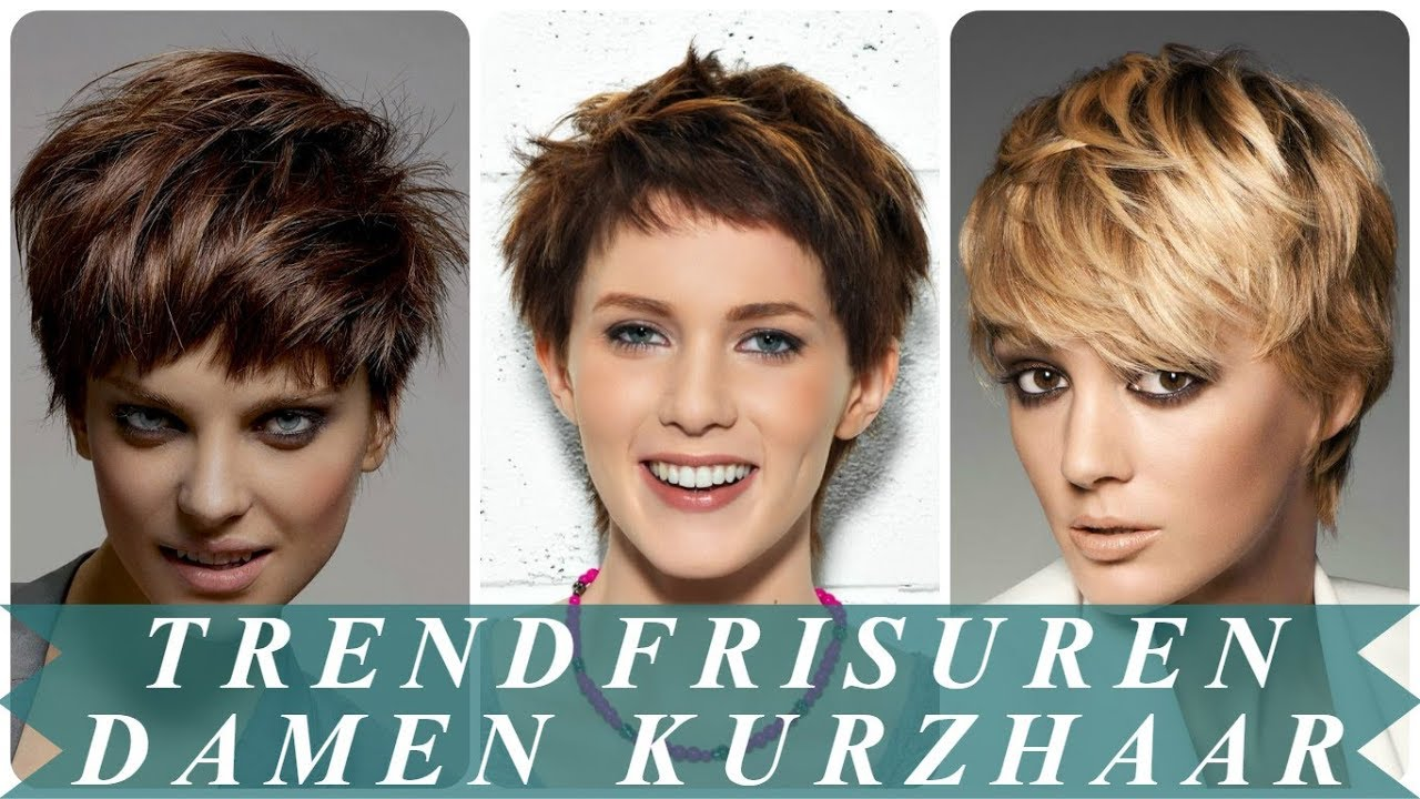 Trendfrisuren 2018 Damen Kurzhaar Youtube