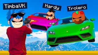 TEAM TROLARDY VS TEAM COMPAS 😱💥 AUTOS vs CORREDORES en GTA 5 😂 TROLERO GTA V