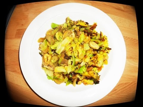 Scrumptious Stir Fried Sprouts & Chestnuts