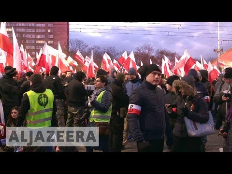 Warsaw far-right march on Polish independence day