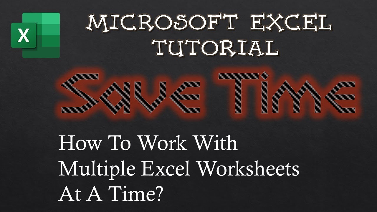Working With Multiple Worksheets In Microsoft Excel Tutorial The Teacher