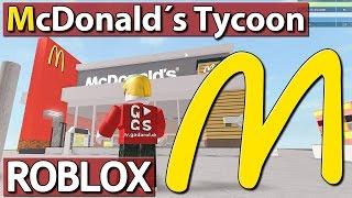 MEIN EIGENER McDONALD'S ► McDonalds Tycoon | ROBLOX
