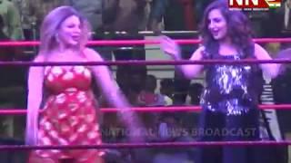 Rakhi Sawant challenges CWE wrestler