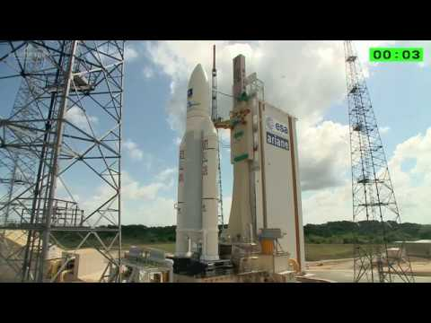 Ariane 5 Lifts Off From French Guiana With Four Galileo Spacecraft