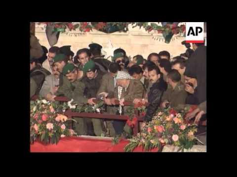West Bank - Arrival Yasser Arafat In Bethlehem