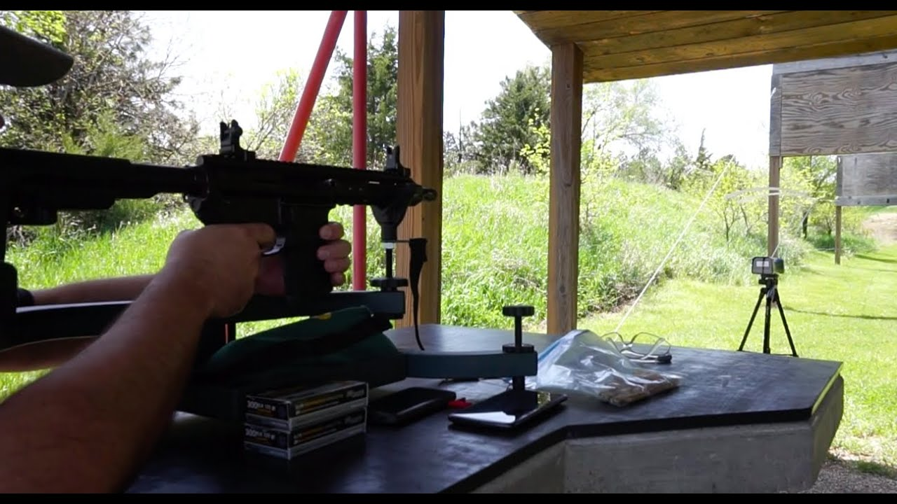 Chronograph Testing Sig Sauer 300 BLK ammo in 7.5