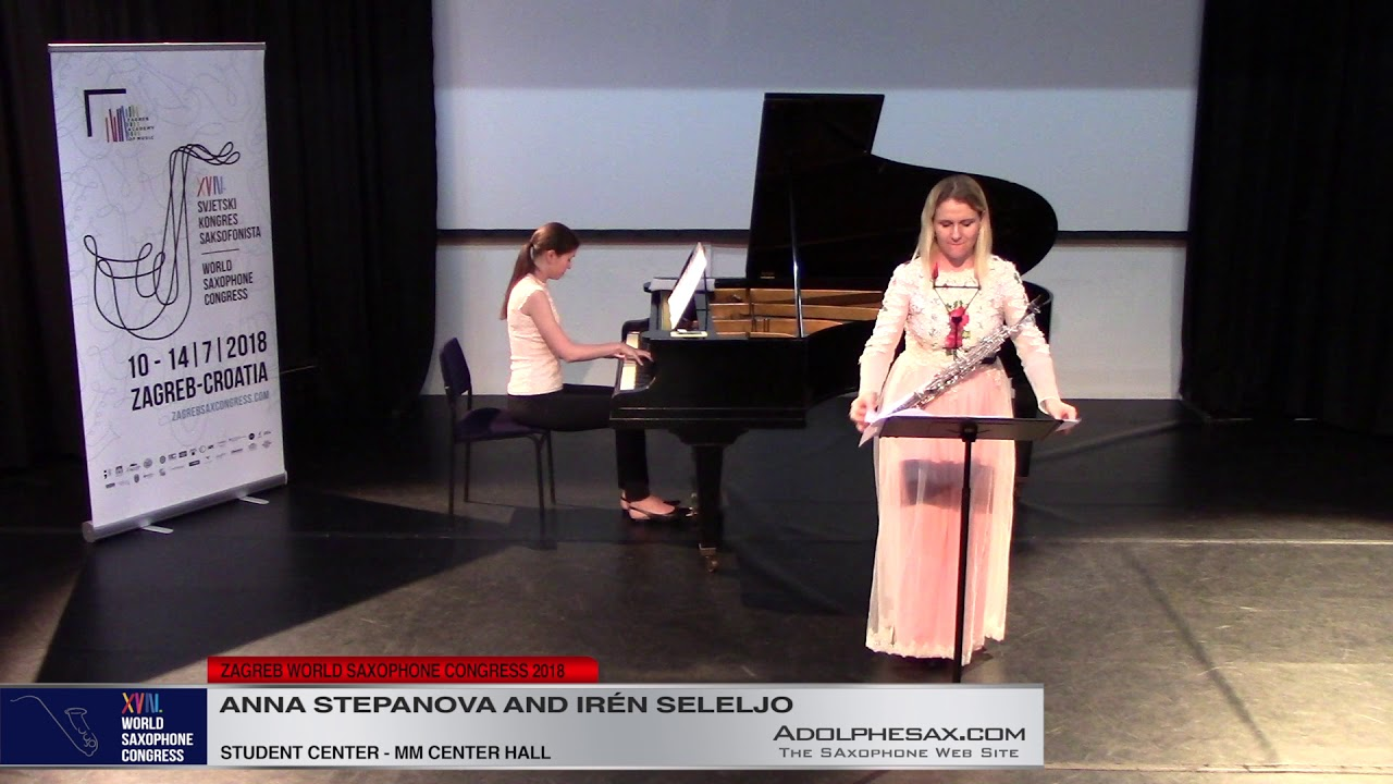 Concerto Duo by Roberto Marino  Anna Stepanova   XVIII World Sax Congress 2018 #adolphesax