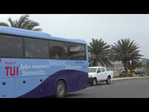 arriving with the TUI coach at Boa Vista airport for the return fight to Manchester