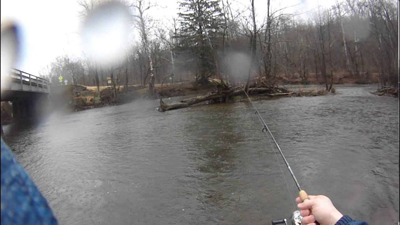 Trout fishing the tulpehocken creek in the rain youtube for Bass fishing in the rain