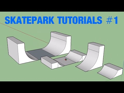 HOW TO MODEL Quarters, Verts and Half Pipes!!! | Skatepark Design Tutorials #1