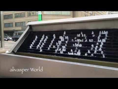 WATER FOUNTAIN CLOCK/WELCOME AT KANAZAWA STATION 金沢駅