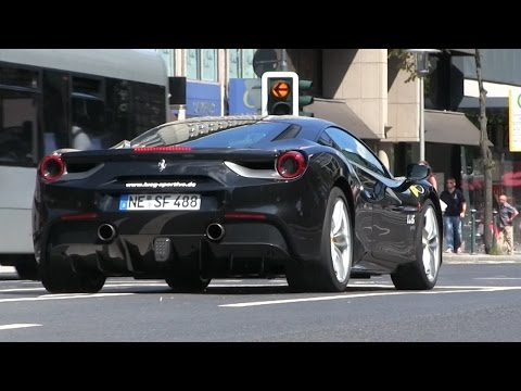 EXCLUSIVE | FIRST Ferrari 488 GTB filmed on the road in Düsseldorf | EXHAUST SOUND!