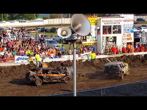 Steele County Fair Owatonna, MN Full-size car stock class demo derby Aug.20th,2017
