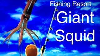 Let's Play: Fishing Resort Wii, Giant Squid