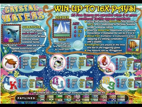 Crystal Waters Slot [Free Online and Instant Casino Games]
