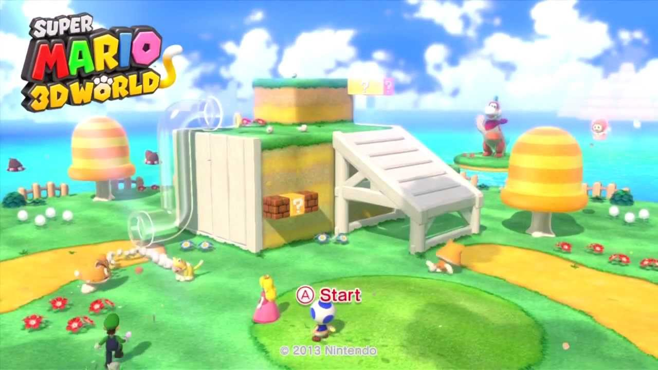 Super Mario 3d World Title Screen Youtube