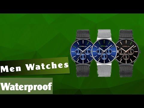Men Watches Waterproof Ultra Thin Date Wrist Watch