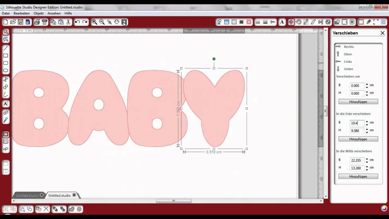 silhouette studio buchstaben karte tutorial  youtube