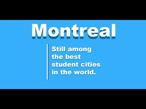 Montreal Top 5 Best student Cities 2018