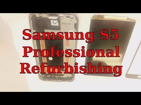 Samsung Galaxy S5 LCD removal and professional refurbishing