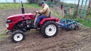 Минитрактор ХТ-160 с картофелекопалкой