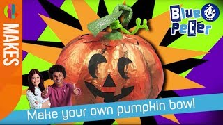 How to make a trick or treat pumpkin bowl | Blue Peter
