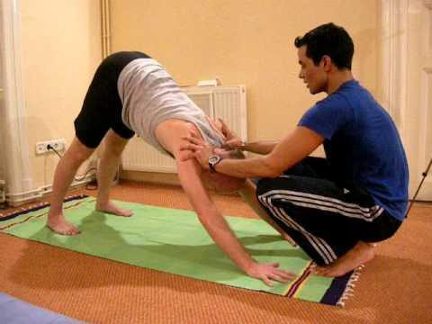 dev kapil yoga workshop downward dog adjustment  youtube
