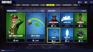 New Pot o' Gold Axe & Sgt. Green Clover Skin (Fortnite Daily Store Update 3-15-18)
