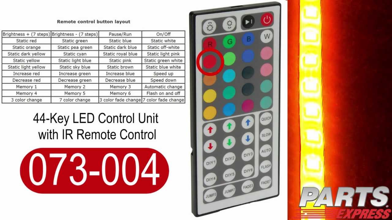 44 Key Led Strip Light Controller Youtube