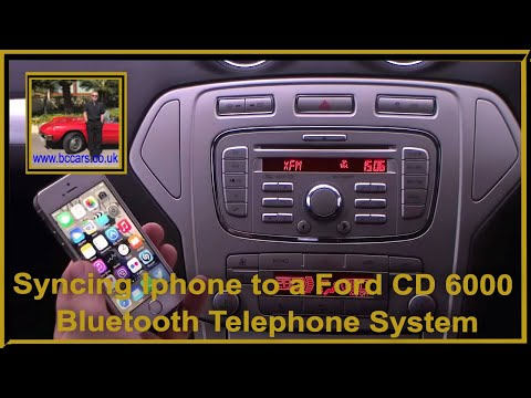 Syncing Iphone To A Ford CD 6000 Bluetooth Telephone System