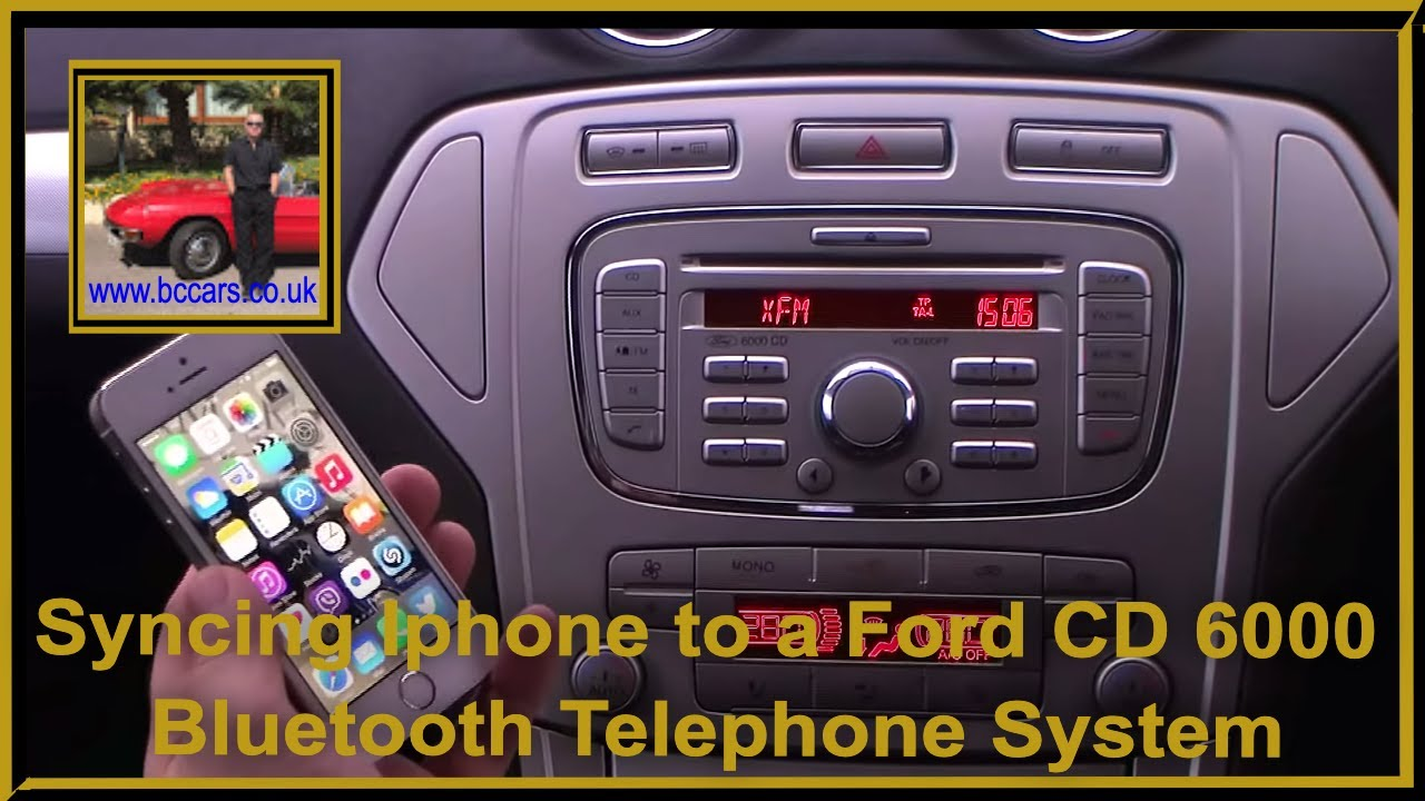 syncing iphone to a ford cd 6000 bluetooth telephone. Black Bedroom Furniture Sets. Home Design Ideas
