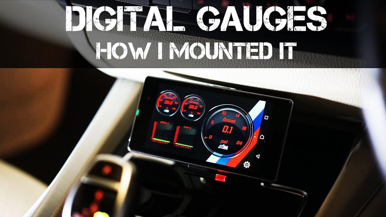 Mounting my Digital Gauges System in the BMW