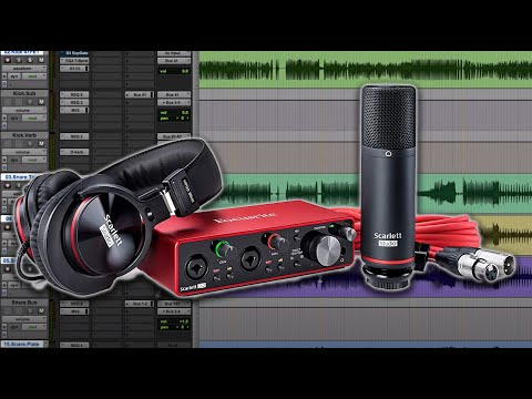Recording with the Focusrite Scarlett 2i2 Studio Bundle - Wa