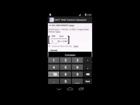 IWCF Well Control Calculator App