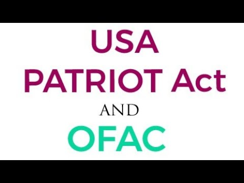 USA PATRIOT ACT | OFAC | - Everything You Should Know!!