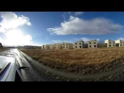 Driving the abandoned Air Force Base of Adak, Alaska