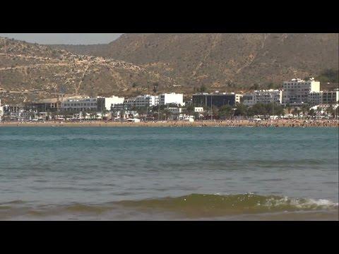 Morocco Agadir beach, atlantic ocean / Maroko Agadir plaża,  Ocean Atlantycki