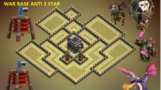 Clash of Clans - Town Hall 9 (th9) best war base with 2 Air Sweepers 2015 + replay Anti lava balloon
